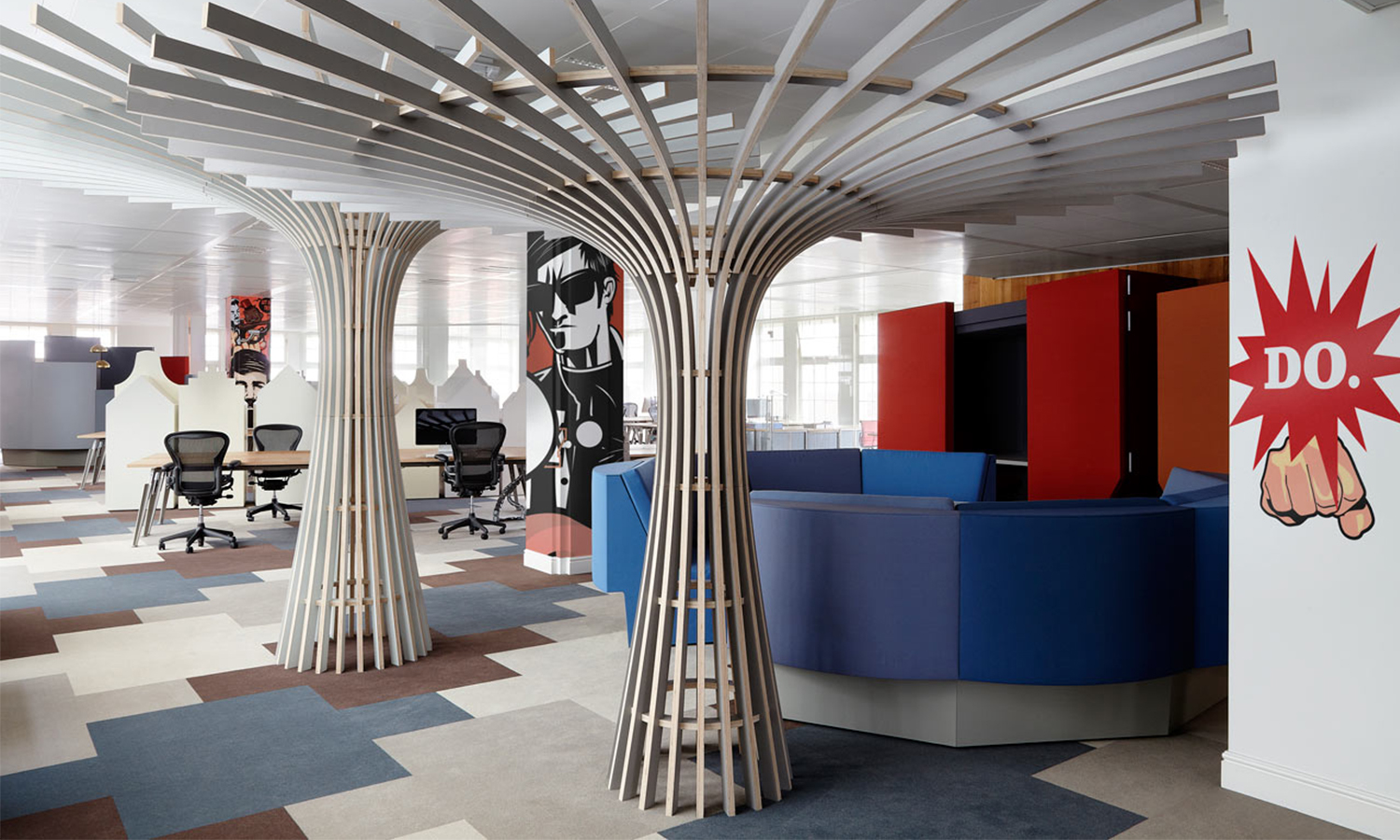 An Ad Agency's Seriously Surprising New Office Space-办公