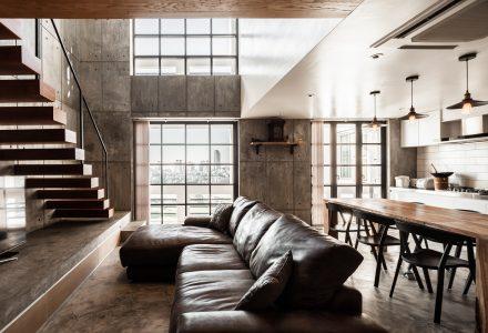 曼谷180㎡LOFT住宅空间设计