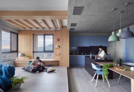 台湾150㎡四口之家住宅设计
