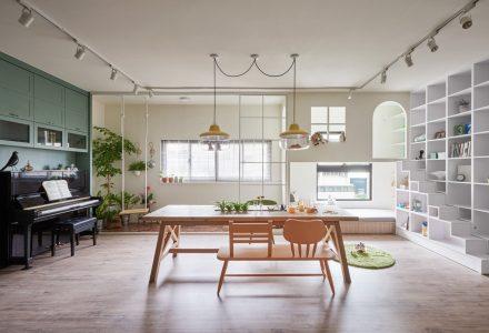 台湾带有家庭游乐场的住宅 / HAO Design