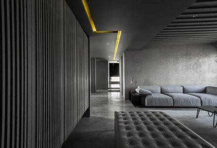 加入中国元素的工业风住宅设计