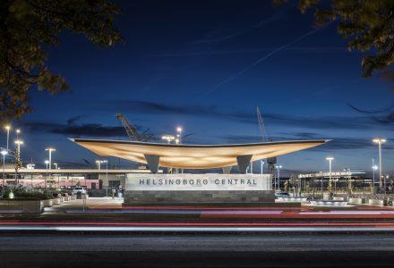 瑞典赫尔辛堡的新枢纽站