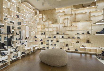 米兰·模块化陈列Camper创意鞋店