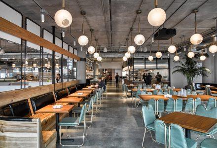 旧金山Dropbox总部中的自助餐厅+咖啡酒吧