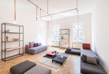 """布达佩斯""""世纪之交""""北欧风格公寓设计"""