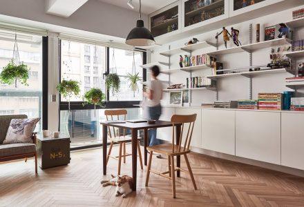 台北45㎡适合养猫的Loft H公寓设计