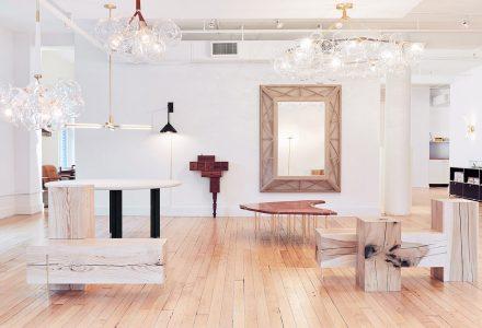 """曼哈顿""""展示+办公""""Pelle设计品牌空间"""