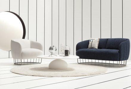 以粘土塑形的Tonella休闲椅