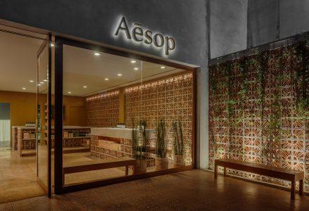 巴西·赤陶土打造的Aesop护肤品专卖店