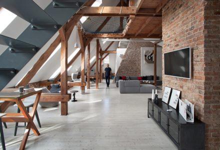波兰170㎡厂房阁楼改造公寓设计