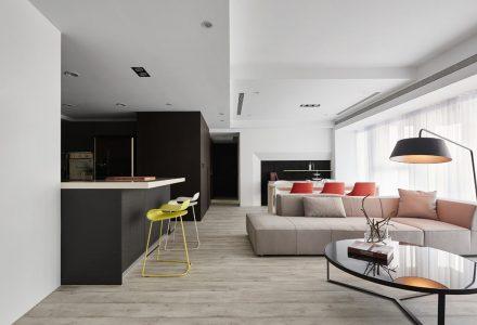台湾现代简约风格顶层住宅设计