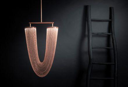 Otéro极富装饰性的镀铜照明