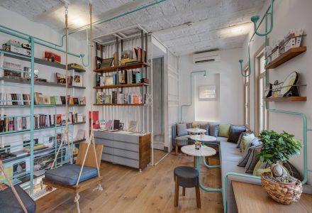 土耳其FiL Books书店主题咖啡馆设计