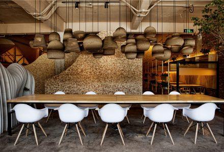 """北京·竞园艺术中心""""伴山""""咖啡厅设计"""