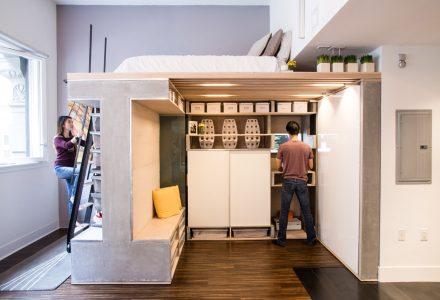 多功能阁楼系统46㎡小空间设计