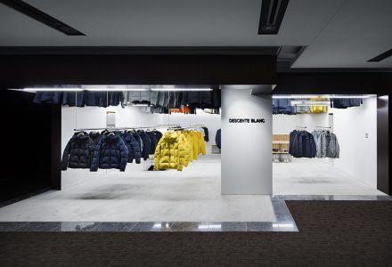 日本服装品牌DESCENTE BLANC店铺设计