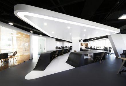北京银河SOHO金融公司办公空间设计