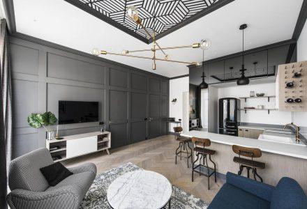 立陶宛49㎡轻复古风小公寓翻新设计