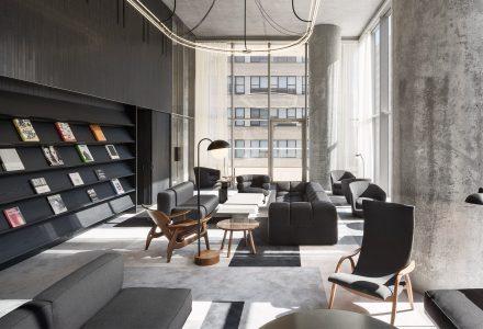 纽约Tribeca摩天大楼的高端私人住宅