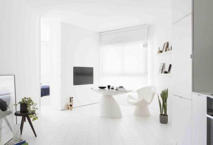 白色极简主义小户型住宅设计
