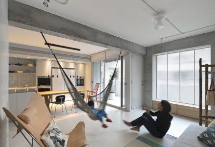 台湾混凝土空间公寓设计