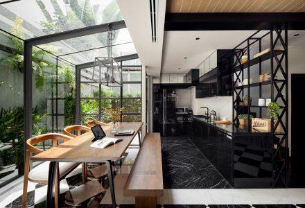 曼谷现代工业风住宅改造空间