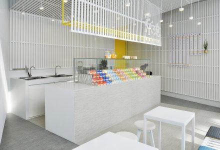 清新的北京乐纯酸奶快闪店