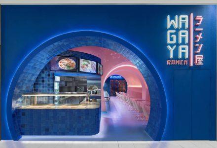 """悉尼""""樱花隧道""""WAGAYA拉面餐厅设计"""
