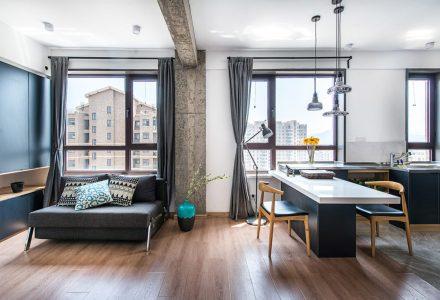 西山湖周边的现代小户型公寓设计