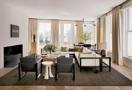 纽约曼哈顿极简主义住宅空间