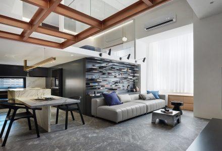 """台湾""""光引呈线""""LOFT住宅空间设计"""