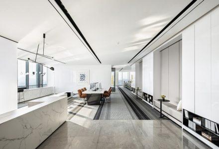 广州绿地城T1栋办公样板间 / 共生形态