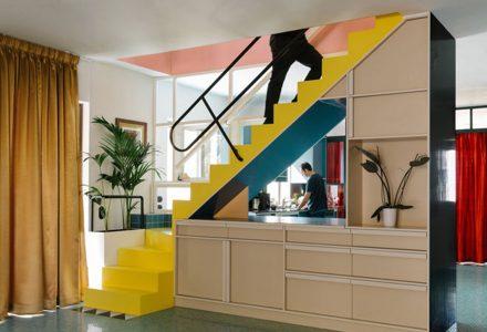 希腊Nadja彩色公寓改造设计