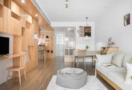 """上海二人""""食堂""""LDK公寓设计 / 大海小燕"""