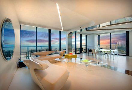 Zaha Hadid为自己设计的迈阿密海滩公寓
