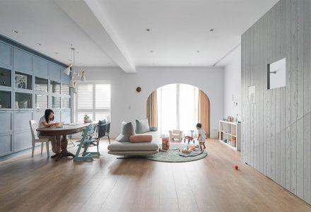 台湾·拥有众多收纳空间的趣味之家 / HAO Design