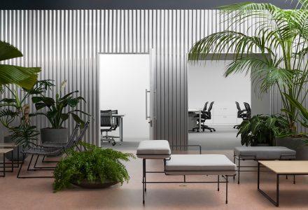 东京拥有室内花园的办公室设计