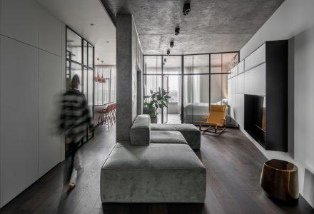 乌克兰基辅·Concrete66小户型工业风公寓