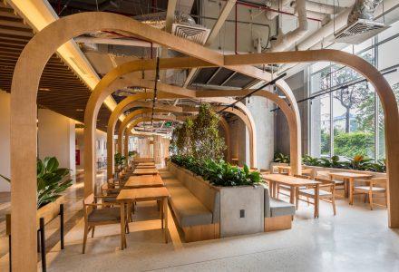 越南胡志明·Pizza4p's披萨餐厅设计