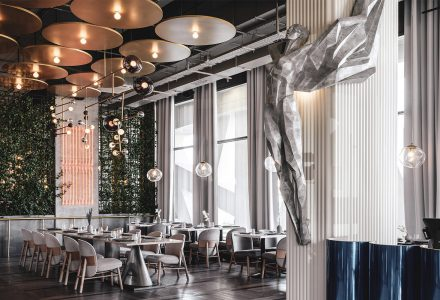 莫斯科·极简主义风格的Polet主题餐厅设计