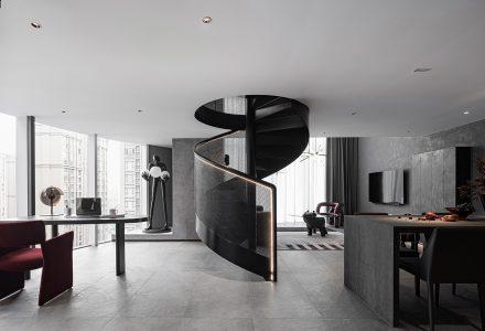 成都·暗色系LOFT公寓设计 / 初一美学设计