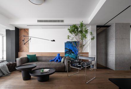 """宁波·""""更多坐下来空间的家""""平层私宅设计 / 0.5m Studio"""